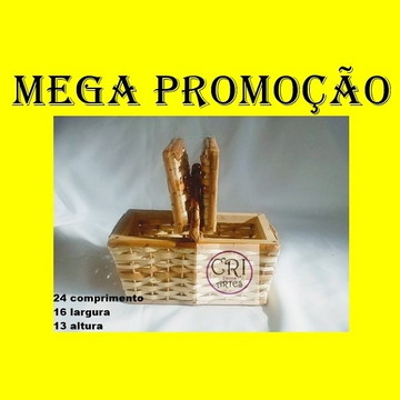PROMOÇÃO/01 kit c/1 cesta media 06 Mini Cesta Piquenique