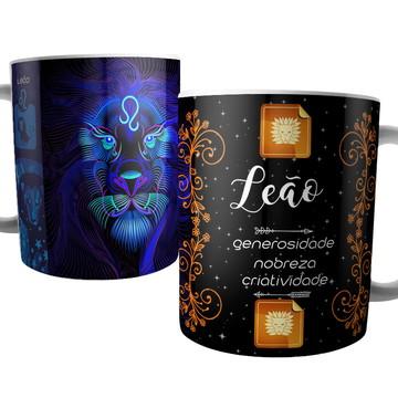 Caneca Signo de Leão - Signos do Zodíaco - Astrologia