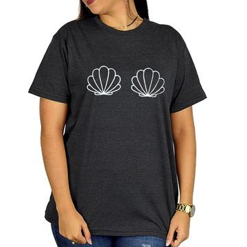 Camisa Personalizada Concha Peito - Grafite