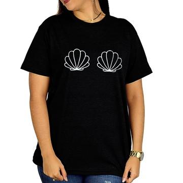 Camisa Personalizada Concha Peito - Preto