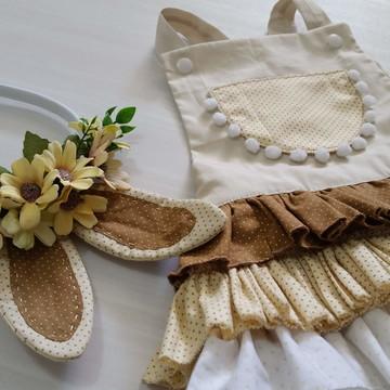 Tapa Fraldas de Páscoa, com Tiara ou Head Band orelhinhas