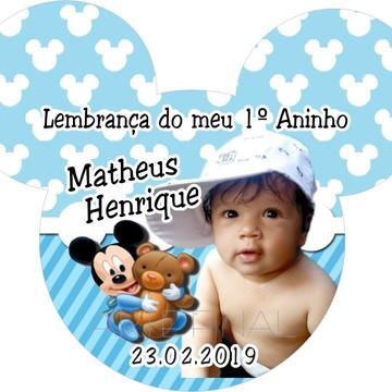 IMÃ FOTO ORELHA MICKEY BABY - 6X7 CM