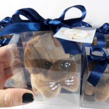Cachorrinho de Pelúcia Chaveiro + Embalagem