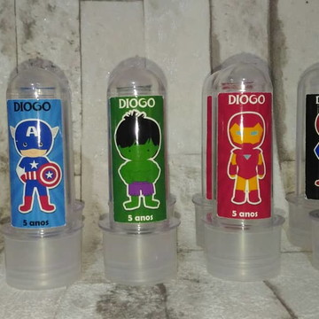 Adesivos para mini tubete VIngadores