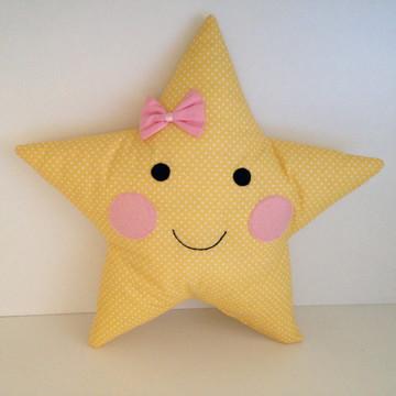 Almofada Estrela Amarela poá