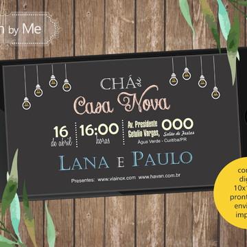 Convite DIGITAL - Chá de Casa Nova - Lâmpadas