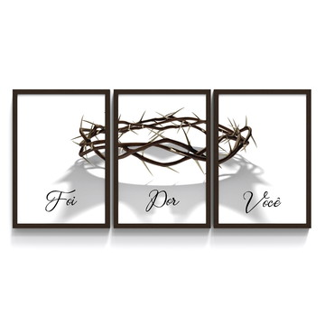 Quadro Moldurado Jesus Cristo Foi Por Voce MTRI_220