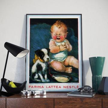 Poster A3 Vintage | Farinha Láctea Nestlé