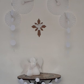 kit batizado divino espirito santo decoracao decoração