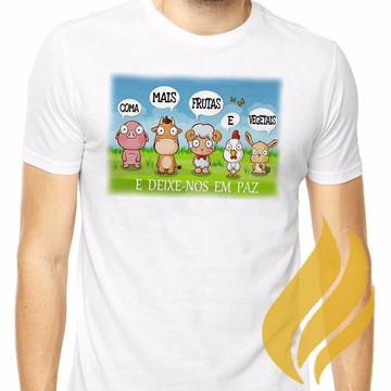 46b0b39b82 Camiseta Camisa Vegan Vegana Bichinhos Frete Grátis!
