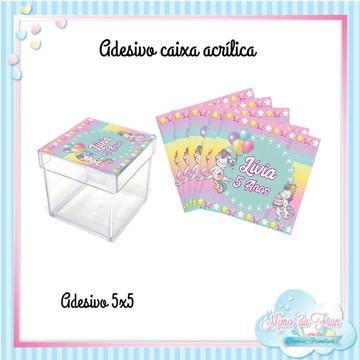 Adesivo caixa acrílica Unicórnio