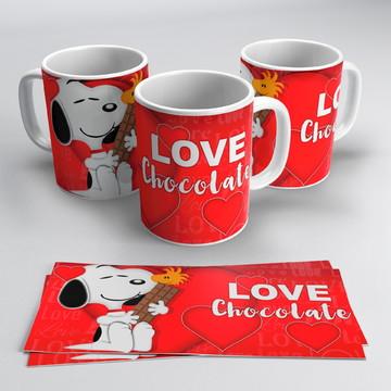 Caneca Snoopy Chocolate Love
