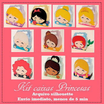 kit de caixa Princesas ( arquivo para silhouette )