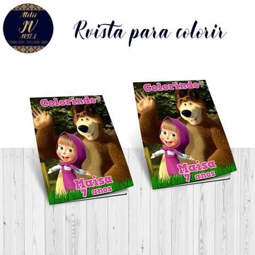 Revista para colorir Masha e o Urso