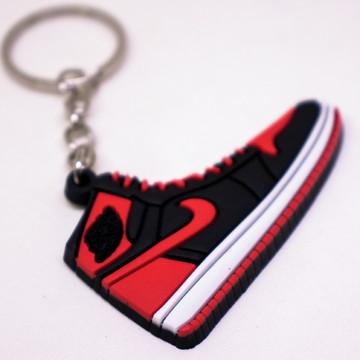 407219542c4 Chaveiro Tenis Nike Air Jordan 1 Chicago Vermelho Michael