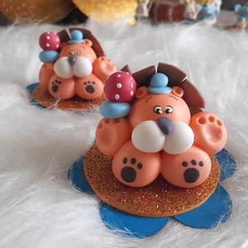 Aplique leao baby - circo biscuit