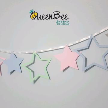 Bandeirola Estrela Colorida