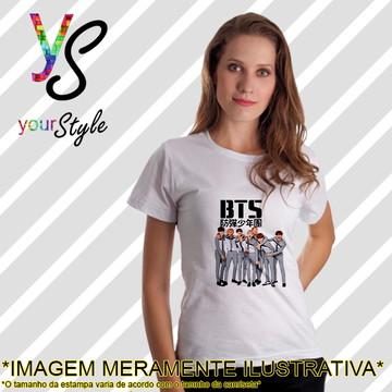Baby look Feminina Integrantes Banda BTS KPop