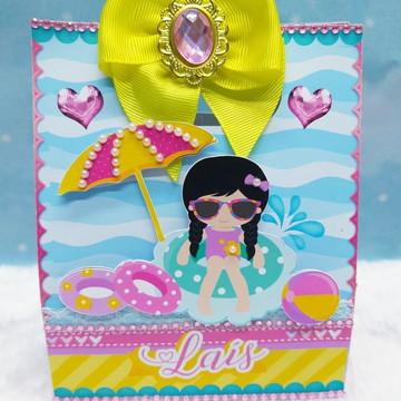 Caixa sacola pool party girl