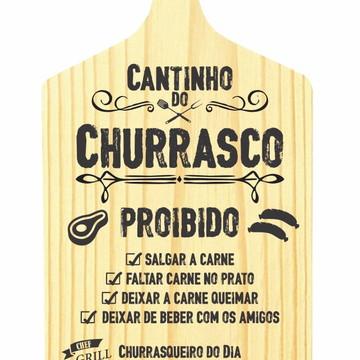 Tábua De Carne Madeira Decor Cantinho do Churrasco