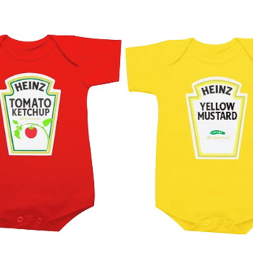 Body Gêmeos Ketchup E Mostarda Heinz / Catchup E Mostarda