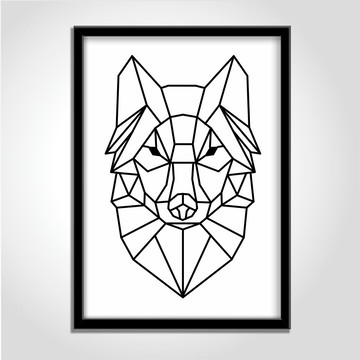 Quadro Decorativo Wolf Boho