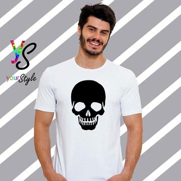Camiseta Caveira Silhueta