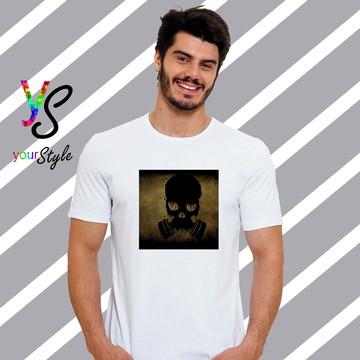 Camiseta Caveira com Máscara