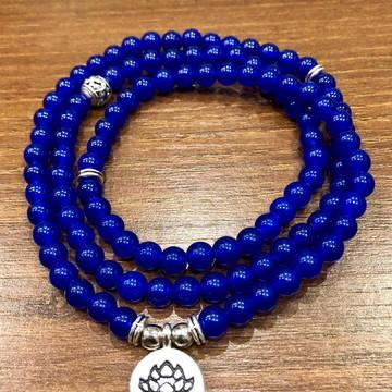 Japamala Safira Azul Pedra Natural