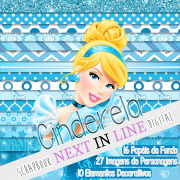 Kit Scrapbook Digital Cinderela