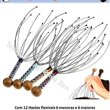 Massageador Coroa Da Cabeça 12 Hastes Terapia Magnética Zen