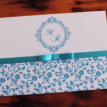 Convite Casamento - Convite 15 anos turquesa tiffany