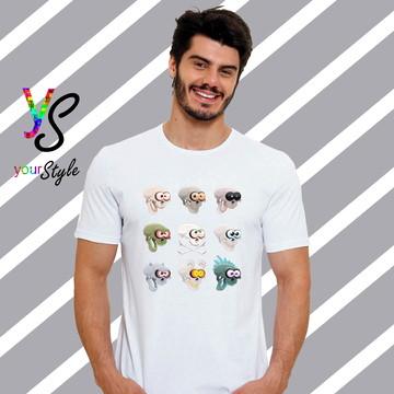 Camiseta Desenhos de Caveiras