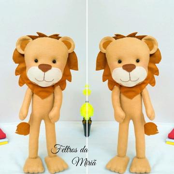 Leão Covarde em feltro - Mágico de Oz