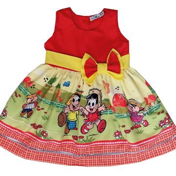 Vestido quadrilha rosinha e chicu bento festa infantil