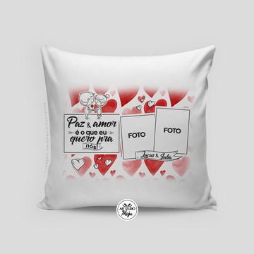Almofada Personalizada Amor - Paz e amor - Com foto