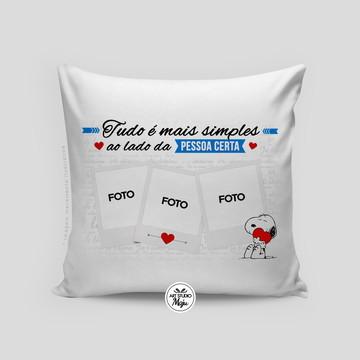 Almofada Personalizada Amor - Tudo é mais simples...