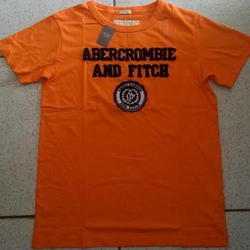 Camiseta Abercrombie Laranja Tam G
