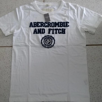 Camiseta Abercrombie Branca Tamanho G
