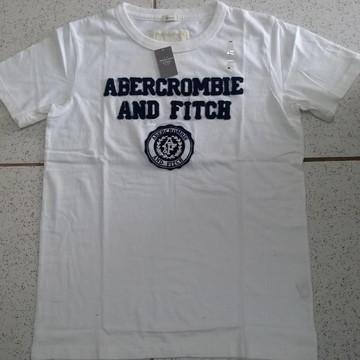 Kit 2 Camisetas Abercrombie Tamanho G Branca e Laranja
