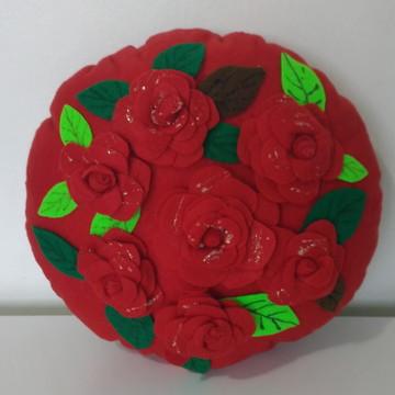 Almofada Decorada com Rosas