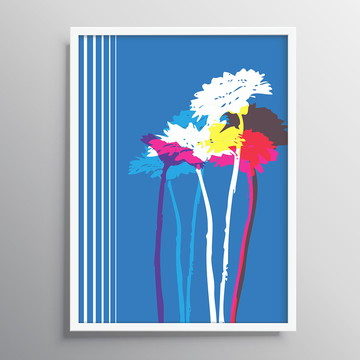 Quadro Decorativo Flower Blue