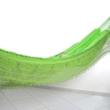 03407a4be3fb6 Rede De Dormir Descanso Casal Sol a Sol Grande - Verde Limão