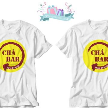camiseta noivos chá bar