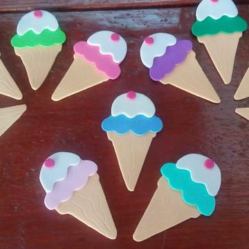 Apliques sorvetes em e.v.a. cores sortidas