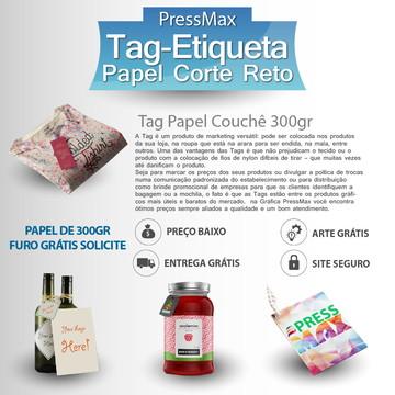 100 Tag Etiqueta 5x7 cm Personalizada FRETE/ARTE GRÁTIS