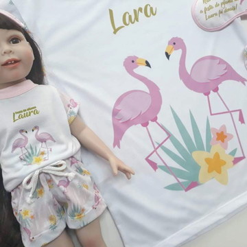 Pijama Boneca American Girl e Our Generation Flamingos