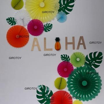 Painel decorativo festa aloha festa havaiana 24 peças