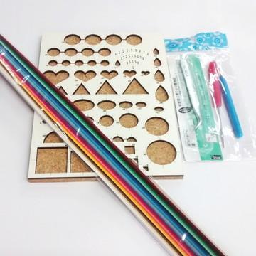 Kit Completo Para Quilling Ferramentas e 125 tiras de papel