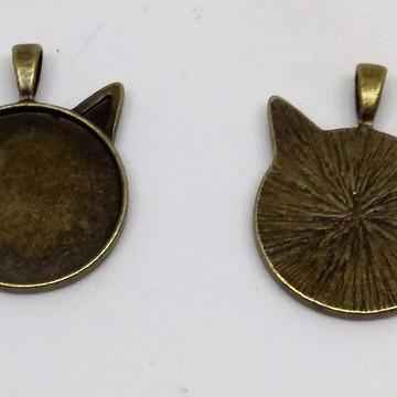 Base gato para pingente bronze